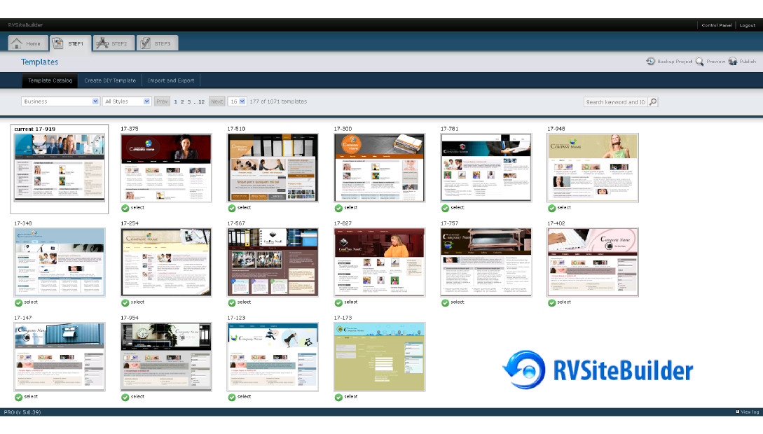 How to build a website with RVSitebuilder, included with our hosting packages