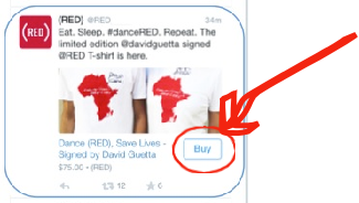 Twitters new buy button added