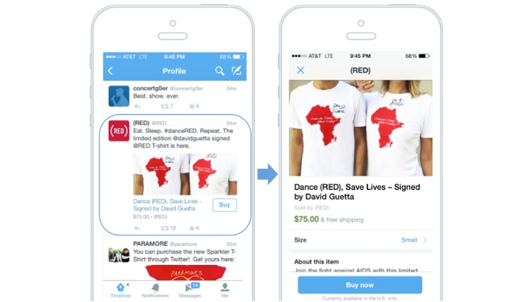 Twitter adds buy button